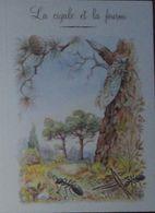 Petit Calendrier De Poche  2008 Illustration Fable De La Fontaine La Cigale Et La Fourmi- 4 Volets - Calendari