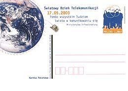 Cp 1308 Poland World Telecommunication Day 2003 - Telecom