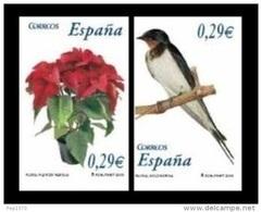 ESPAÑA 2006 - FLORA Y FAUNA. Flor De Pascua Y Golondrina - EDIFIL Nº 4216-4217 - YVERT 3868-3869 - 1931-Heute: 2. Rep. - ... Juan Carlos I