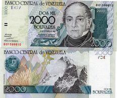 VENEZUELA 2000 BOLIVARES 1998 UNC - Venezuela