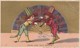 CHROMO Publicitaire Publicité Réclame (69) LYON Spectacle Cirque Cirk Circus Musicien Violon (2 Scans) - Autres