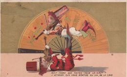 CHROMO Publicitaire Publicité Réclame (69) LYON Spectacle Cirque Cirk Circus Acrobate Musicien Violon (2 Scans) - Autres