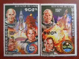 LAOS 1975 Y&T N° 293 à 296 ** _ COOPERATION SPATIALE USA-URSS - Laos