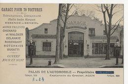 AGEN  -  Palais De L'Automobile -  Esplanade Du Gravier  -  Garage Pour 70 Voitures  -  Propriétaire A. De Victor - Agen