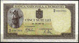 500 LEI FROM 1942 - Roemenië
