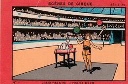 IMAGE Publicitaire Publicité Réclame Cirque Cirk Circus Japonais Jongleur Jonglage  (2 Scans) - Vieux Papiers