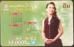 Mobilecard Laos - Kalender,calendar 2006 - Nice Lady,Frau,woman (4) - Laos