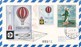 San Marino 1966 Uf. 731 Nostra Signora D'Europa Maxi Card Aereofilatelia - Montgolfières