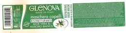 GLENOVA MASCHERA CAPELLI ETICHETTA PLASTICA ITALY - Advertising