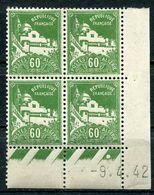 ALGERIE N°48 ** EN BLOC DE 4 DATE DU 9-4-42 - Unused Stamps