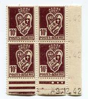 ALGERIE N°184 ** EN BLOC DE 4 DATE DU 9-12-42 - Unused Stamps