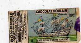 Bon-prime Abonnement Du Chocolat Poulain Valable Jusqu'en Décembre 1934 - Bateau De Guerre Ancien Grande Nave XVIIe - Old Paper