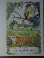 Petit Calendrier De Poche  2009 Illustration Fable De La Fontaine Le Coq Et Le Renard 4 Volets - Calendari