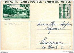 """41-11 - Entier Postal Avec Illustration """"St Moritz"""" Adressé Non Posté - Entiers Postaux"""