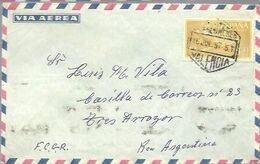 CARTA  MATASELLOS CORREO AEREO VALENCIA 1957 - 1951-60 Briefe U. Dokumente