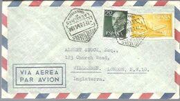 CARTA  MATASELLOS CORREO AEREO   LAS PALMAS DE G.CANARIA 1967 - 1931-Heute: 2. Rep. - ... Juan Carlos I