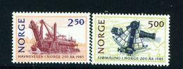 NORWAY - 1985 Port Authority Set Unmounted/Never Hinged Mint - Norwegen