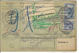 ALLEMAGNE 1905: Bulletin D'Expédition De Zwickau Pour Genève, Affranchi à 2,20 Mk. - Germany