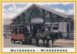 Postcard Waterhead Windermere Cumbria Horse Bus / Working Horses [ John Hinde ] My Ref B24416 - Postales