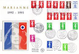 """"""" MARIANNE """" Sur Enveloppe 1er Jour Grand Format N°tée De 1992 1993 Parfait état - Sonstige"""