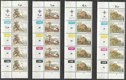 South Africa RSA - 1982 - Prehistoric Animals - Karoo Fossils, Dinosaurs - Complete Set Control Blocks - África Del Sur (1961-...)