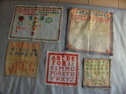 5 Abecedaires 1951 -1954 Pour Certains - Point De Croix