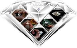 Blok 259** De Diamant In Al Zijn Facetten (dans Tous Ces éclats) 4744/48** Diamant Met Glinsterende Effecten (postfris) - België