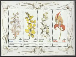 South Africa RSA - 1981 - 10th World Orchid, Orchids Conference, Flowers - Souvenir, Miniature Sheet - África Del Sur (1961-...)