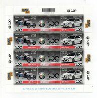 ITALIA - 2010 - Foglietto  - 100 Anni Di Alfa Romeo  - 8 Valori - Nuovo ** - (FDC23135) - Blocchi & Foglietti