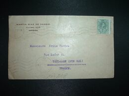 LETTRE Pour La FRANCE TP 5c Variété Piquage Décalé Horizontalement OBL.MEC.11 FEB 17 BARCELONA + MARTIN DIAZ DE COSSIO - 1889-1931 Royaume: Alphonse XIII