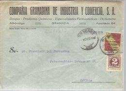 CARTA COMERCIAL 1937 VIÑETA   IMPRESO - 1931-50 Briefe U. Dokumente