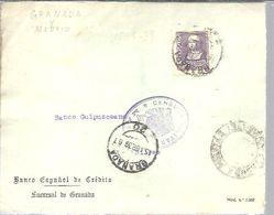 CARTA COMERCIAL 1939    CENSURA GRANADA   Y CENSURA  MADRID   SOLO FRONTAL - 1931-50 Briefe U. Dokumente