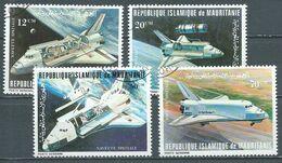 Mauritanie Poste Aérienne YT N°200/203 Conquête De L'espace Navette Spatiale Oblitéré ° - Mauritania (1960-...)