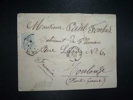 LETTRE Pour La FRANCE TP 25c OBL.2 AGO 81 + NICOLAS TOUZET + IRUN A BORDEAUX + BORDEAUX A CETTE RAPIDE C - 1875-1882 Royaume: Alphonse XII