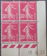 R1306/172 - 1925 - TYPE SEMEUSE FOND PLEIN - N°191 (IIA) NEUF** CdF - CD : 16.6.25 - Coins Datés