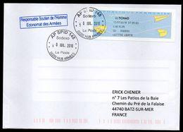 Enveloppe Oblitération AP SPID 148 Sodexo La Poste 00200 HUB ARMEES Du 10/07/2018 - Marcophilie (Lettres)