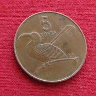 Botswana 5 Thebe 1991 KM# 4a.1 Botsuana - Botswana