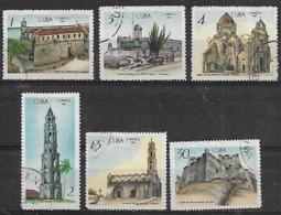 1967 Cuba Castillos-iglesias Y Conventos 6v. Serie Completa - Klöster