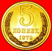 · BREZHNEV (1964-1982): USSR (ex. Russia) ★ 5 KOPECKS 1979 BU MINT SET! LOW START★ NO RESERVE! - Russie