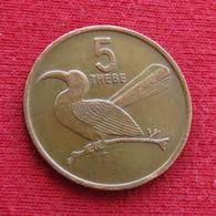 Botswana 5 Thebe 1988 KM# 4 Botsuana - Botswana