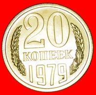 · BREZHNEV (1964-1982): USSR (ex. Russia)★20 KOPECKS 1979 BU MINT SET DIE III1 (3 KOPECKS) SELDOM★LOW START★ NO RESERVE! - Rusland