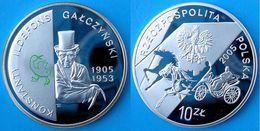 POLAND 10 Z 2005 ARGENTO PROOF SILVER KONSTANTY ILDEFONS GALCZYNSKY 1905-1953 PESO 15,5g. TITOLO 0,925 CONSERVAZIONE FON - Poland