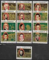 1968 Cuba Dia Del Guerrillero 13v. Serie Completa - Gebraucht