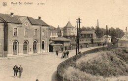 Mont St Guibert   La Gare Animée Circulé En 1924 - Mont-Saint-Guibert