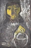Jelzés Nélkül: Portré Olaj, Farost, 70×50 Cm - Unclassified