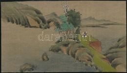 Jelzés Nélkül: Kínai Szerzetes Szigeten, Akvarell, Papír, 7,5×13,5 Cm - Unclassified