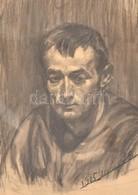 Jelzés Nélkül: Férfi Portré. Szénrajz, Papír (korabeli Vízjeles), Dátumozva (1905. Jan. 28), Paszpartuban, 52,5x37 Cm - Unclassified