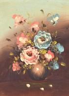 Jelzés Nélkül: Virágcsendélet. Olaj, Vászon. Fa Keretben, 38×28 Cm - Unclassified