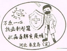 This Postcard Is Stamped With Qinhuangdao, Hebei Post Office Designed A COVID-19 Special Postal Slogan Chop. - China