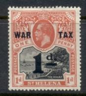 St Helena 1919 War Tax Opt 1d MLH - St. Helena